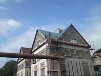 Oprava střechy ve Velkých Hamrech