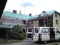 Položení difúzní fólie -oprava střechy