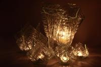 Váza se svícny noční pohled